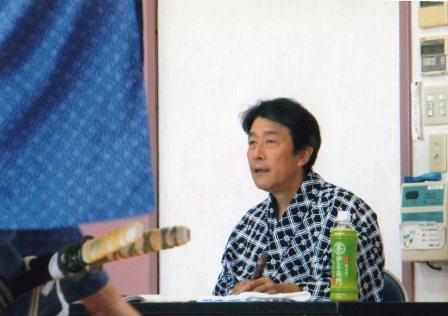 三津五郎先生演技指導