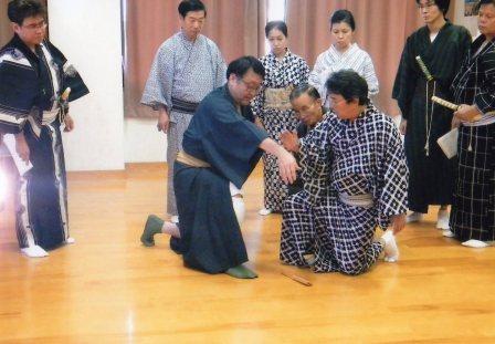 坂東三津五郎先生による久留米ちくご大歌舞伎演技指導